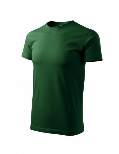 Adler MALFINI Koszulka męska Basic 129 zieleń butelkowa