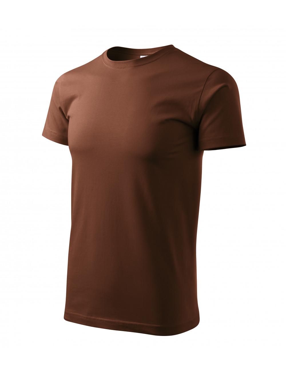 Adler MALFINI Koszulka męska Basic 129 czekoladowy