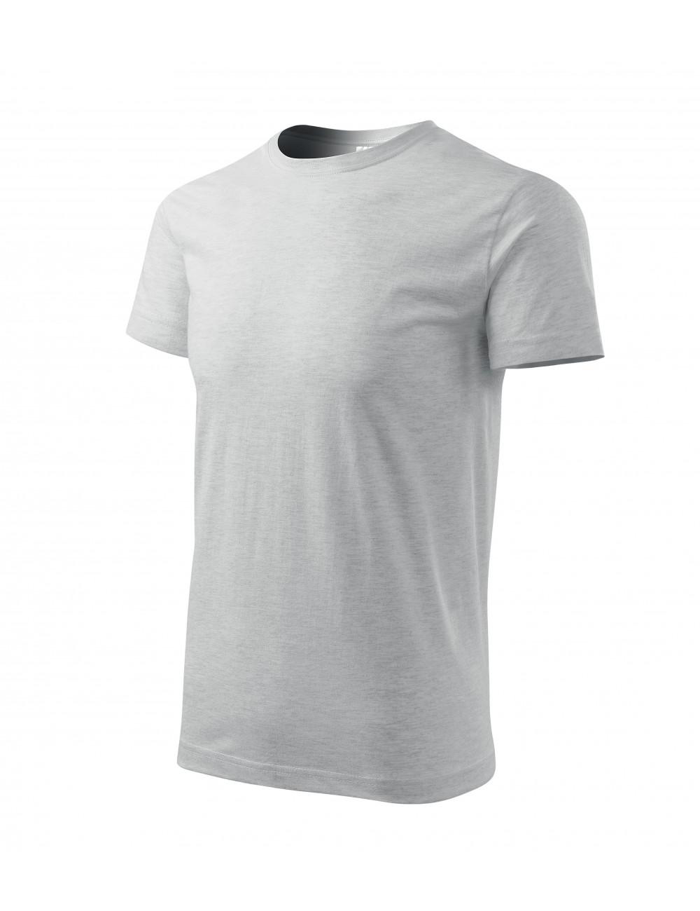 Adler MALFINI Koszulka męska Basic 129 jasnoszary melanż
