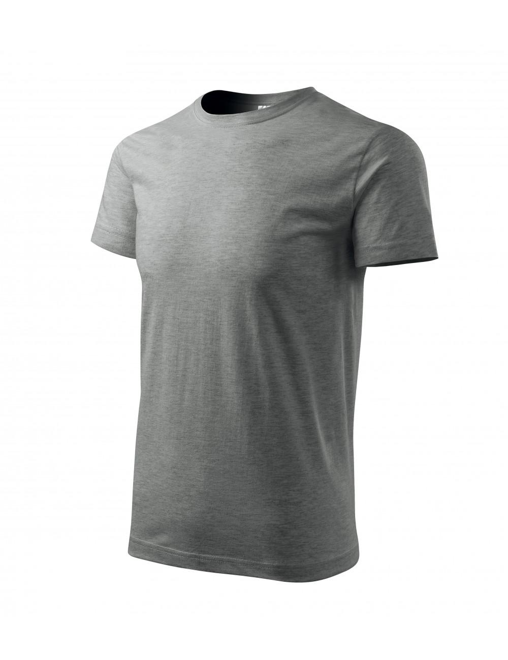 Adler MALFINI Koszulka męska Basic 129 ciemnoszary melanż
