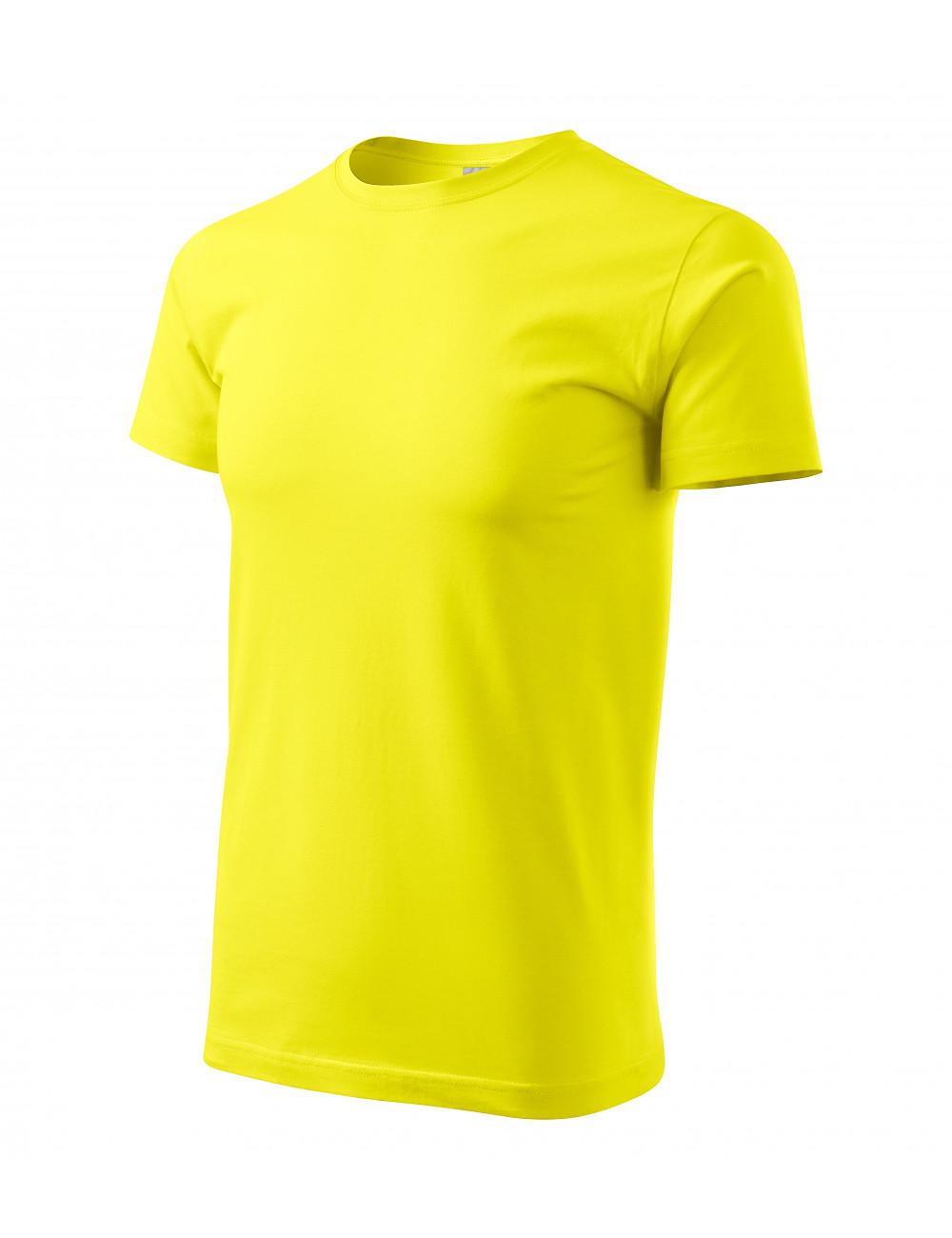 Adler MALFINI Koszulka męska Basic 129 cytrynowy