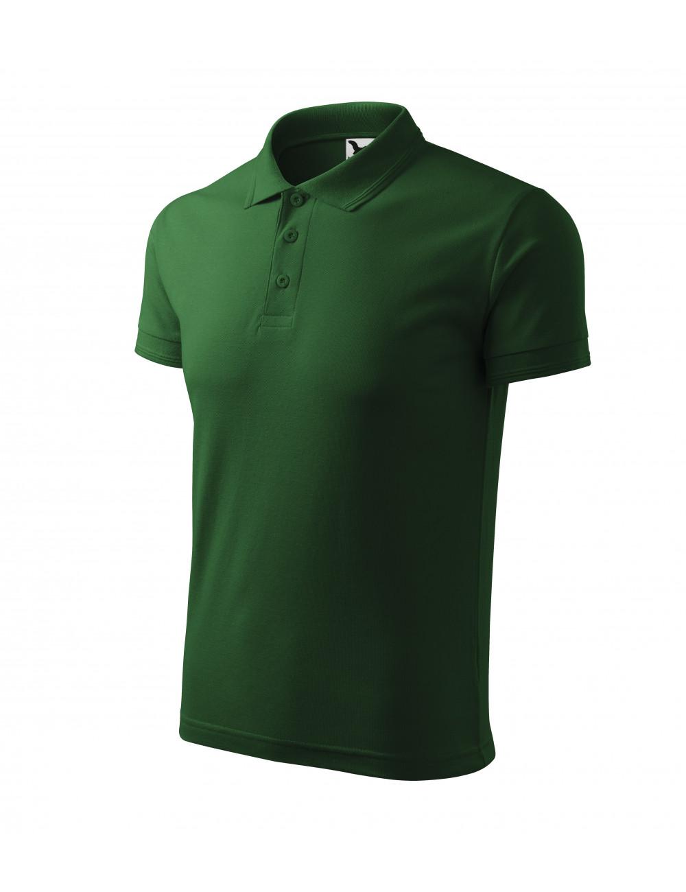 Adler MALFINI Koszulka polo męska Pique Polo 203 zieleń butelkowa