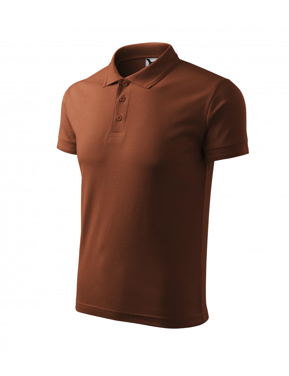 Adler MALFINI Koszulka polo męska Pique Polo 203 czekoladowy