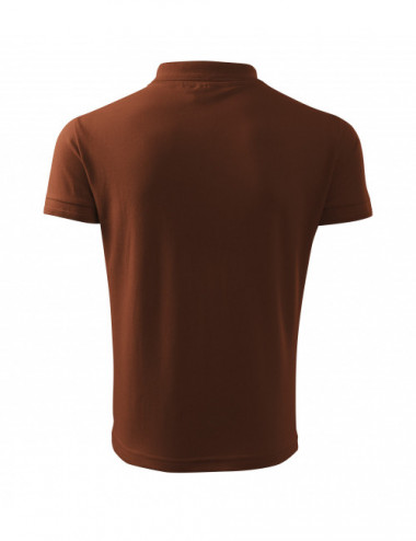 2Adler MALFINI Koszulka polo męska Pique Polo 203 czekoladowy