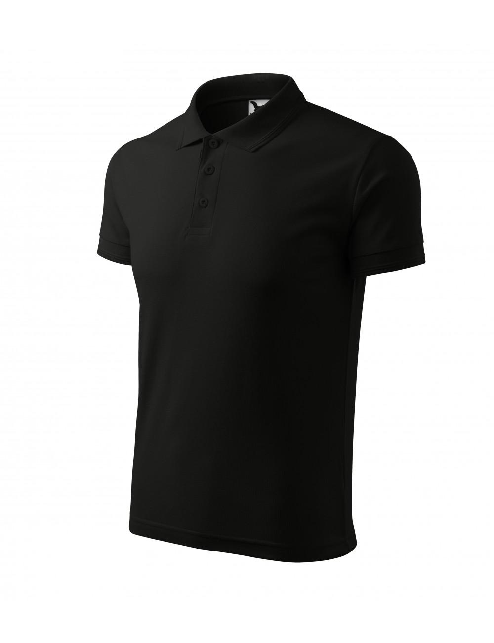 Adler MALFINI Koszulka polo męska Pique Polo 203 czarny