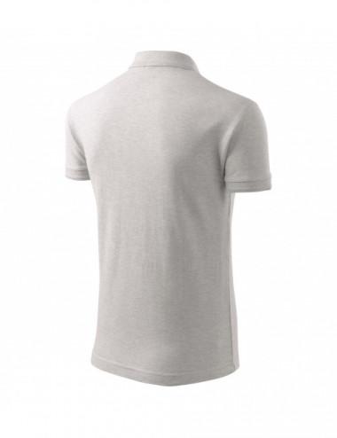 2Adler MALFINI Koszulka polo męska Pique Polo 203 jasnoszary melanż