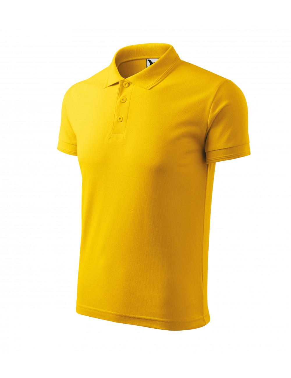 Adler MALFINI Koszulka polo męska Pique Polo 203 żółty