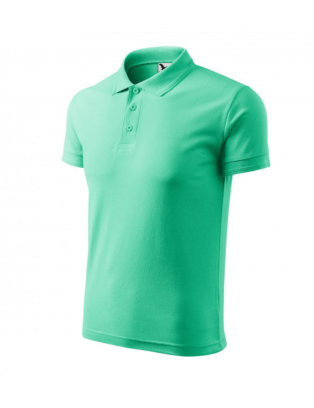 Adler MALFINI Koszulka polo męska Pique Polo 203 miętowy
