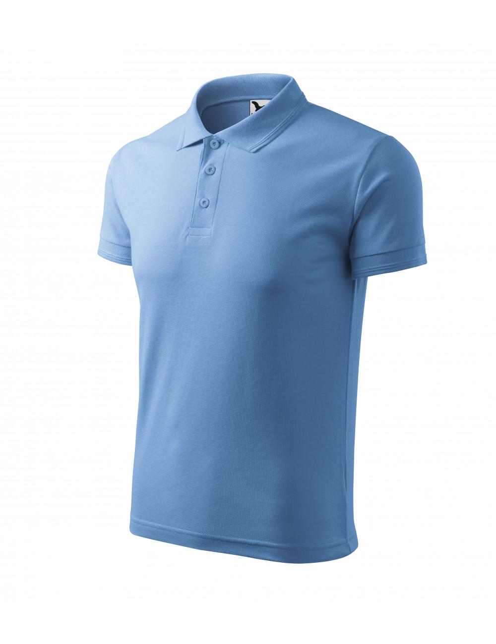 Adler MALFINI Koszulka polo męska Pique Polo 203 błękitny