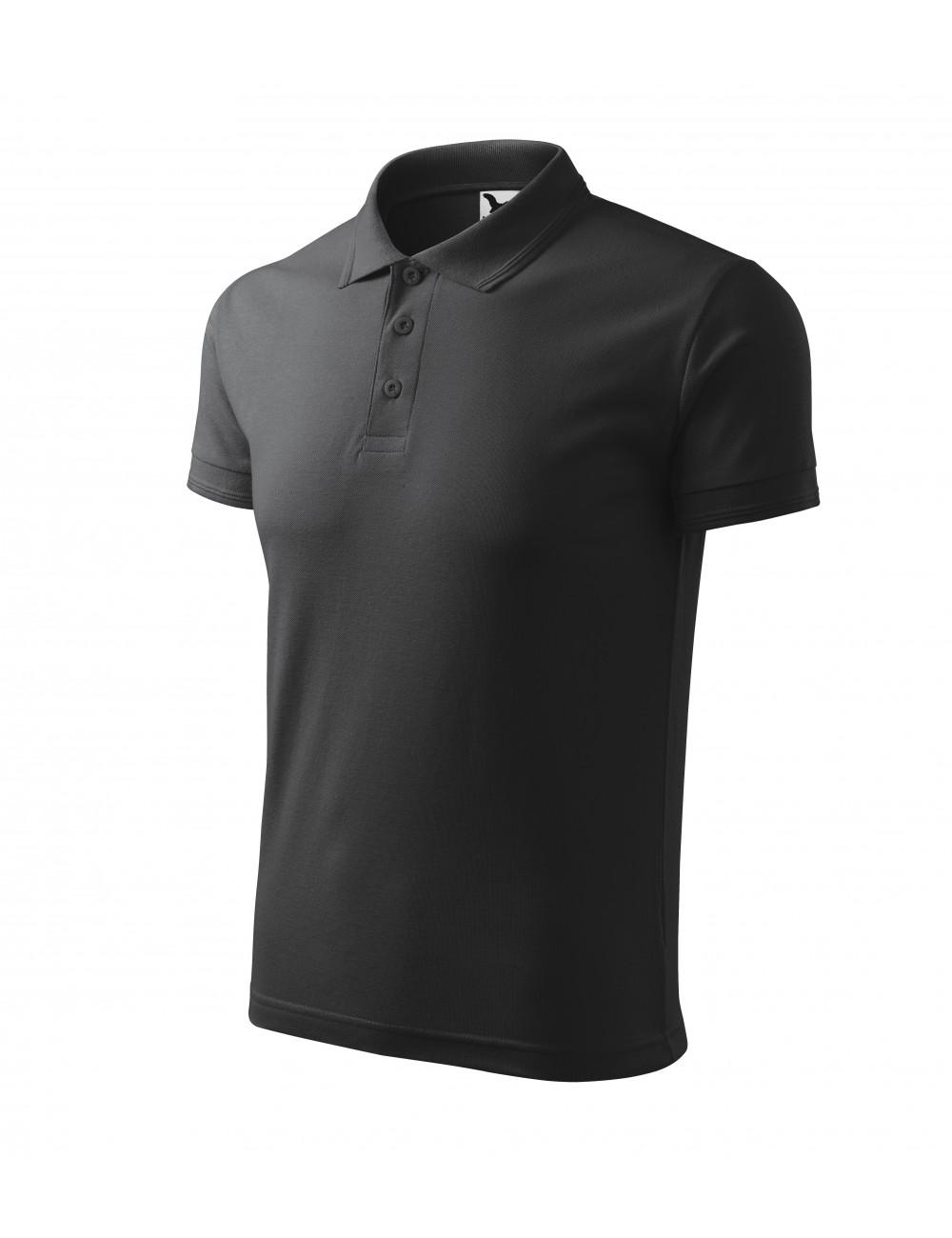 Adler MALFINI Koszulka polo męska Pique Polo 203 antracytowy melanż