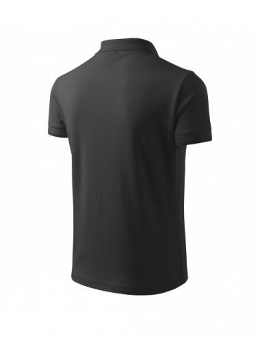 2Adler MALFINI Koszulka polo męska Pique Polo 203 antracytowy melanż