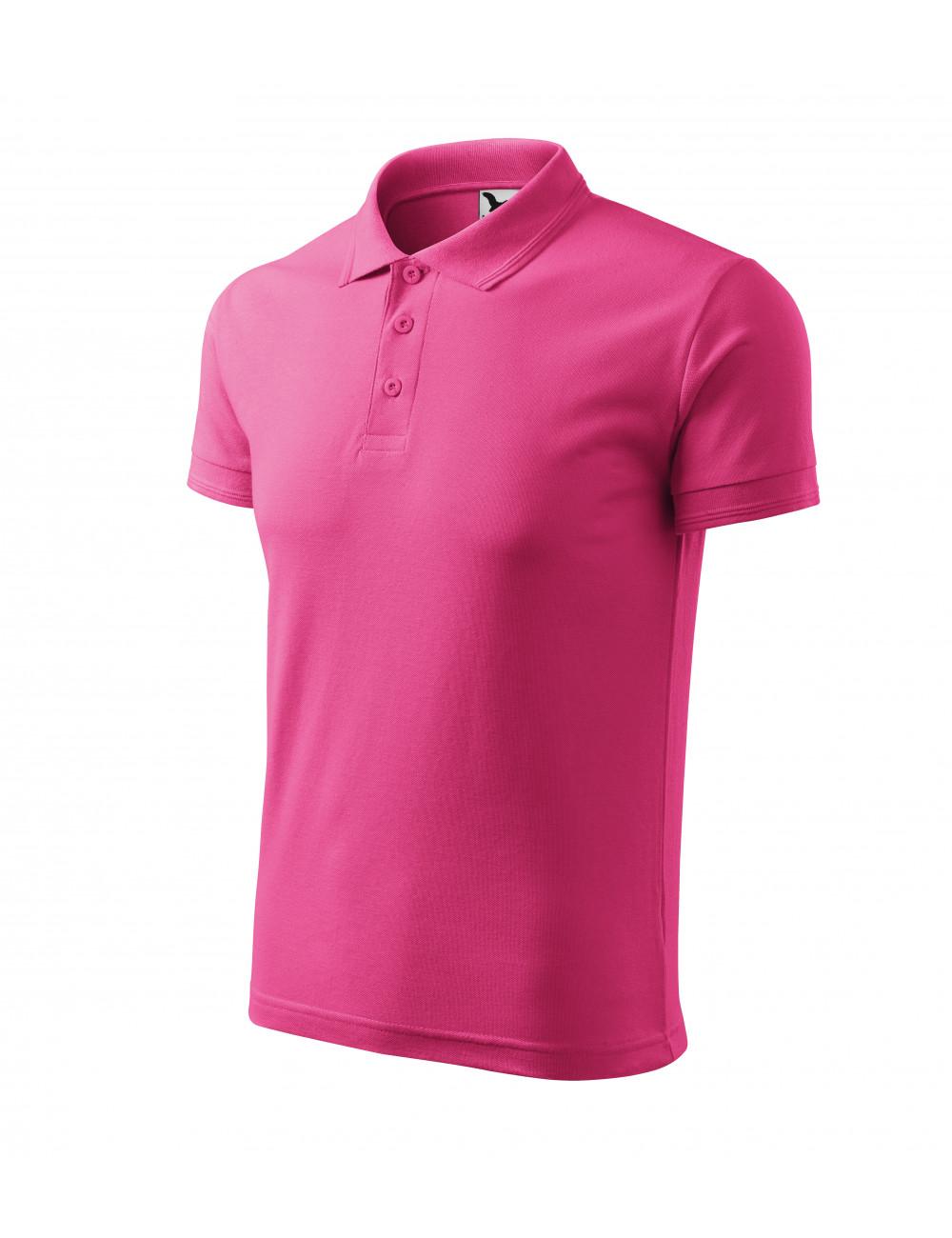Adler MALFINI Koszulka polo męska Pique Polo 203 czerwień purpurowa
