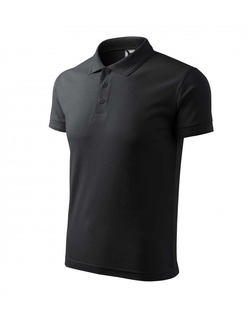 Adler MALFINI Koszulka polo męska Pique Polo 203 ebony gray