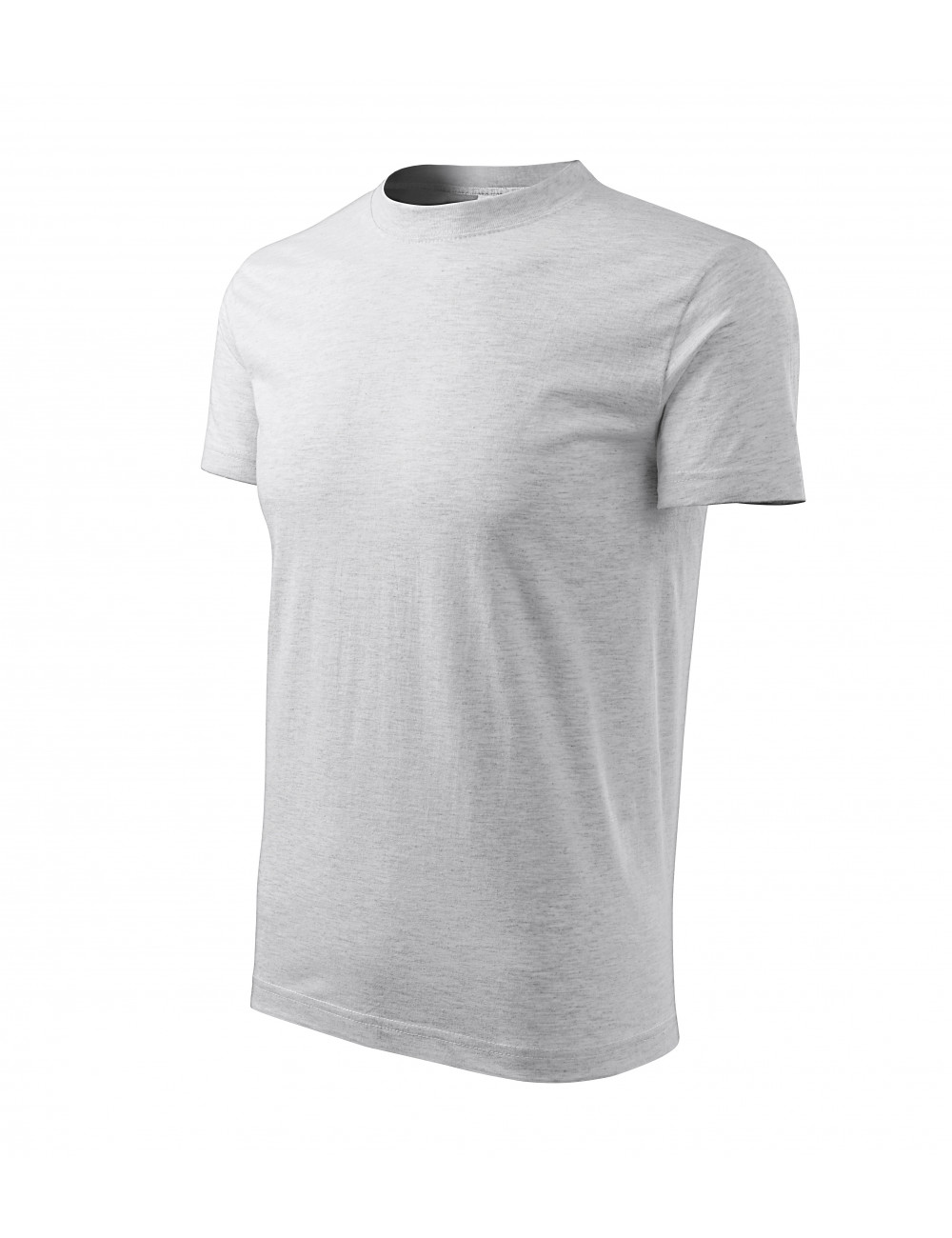 Adler MALFINI Koszulka unisex Classic 101 jasnoszary melanż