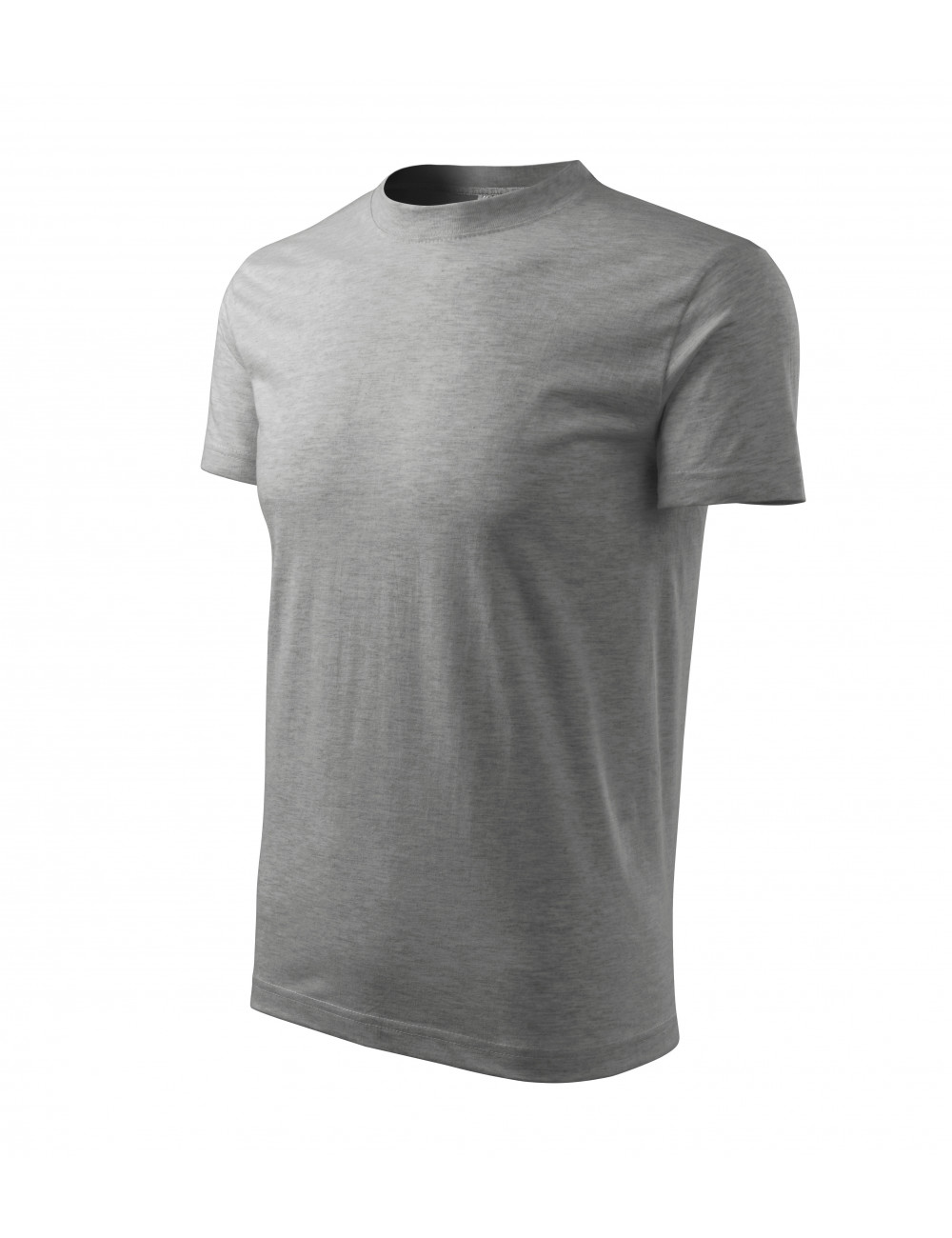 Adler MALFINI Koszulka unisex Classic 101 ciemnoszary melanż