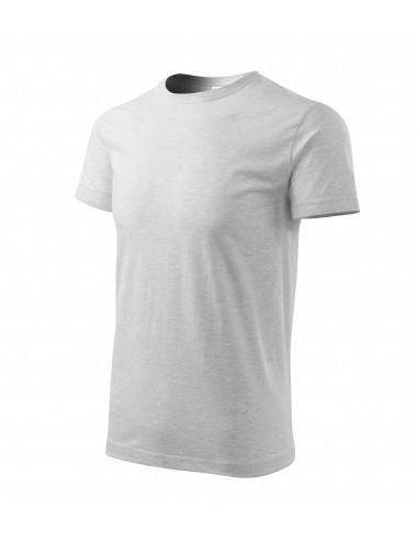 2Adler MALFINI Koszulka unisex Heavy New 137 jasnoszary melanż