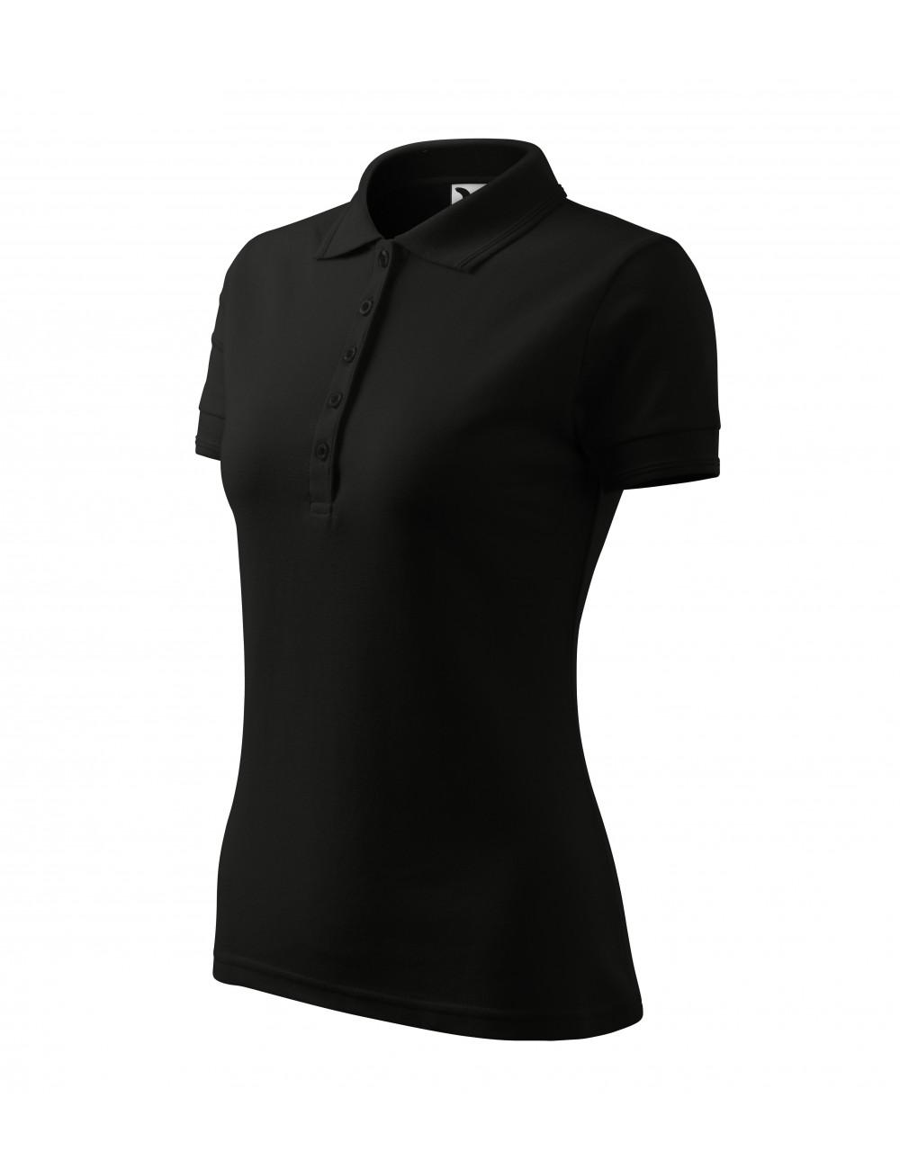 Adler MALFINI Koszulka polo damska Pique Polo 210 czarny