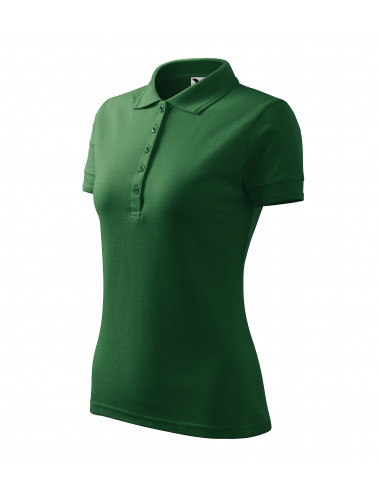 2Adler MALFINI Koszulka polo damska Pique Polo 210 zieleń butelkowa