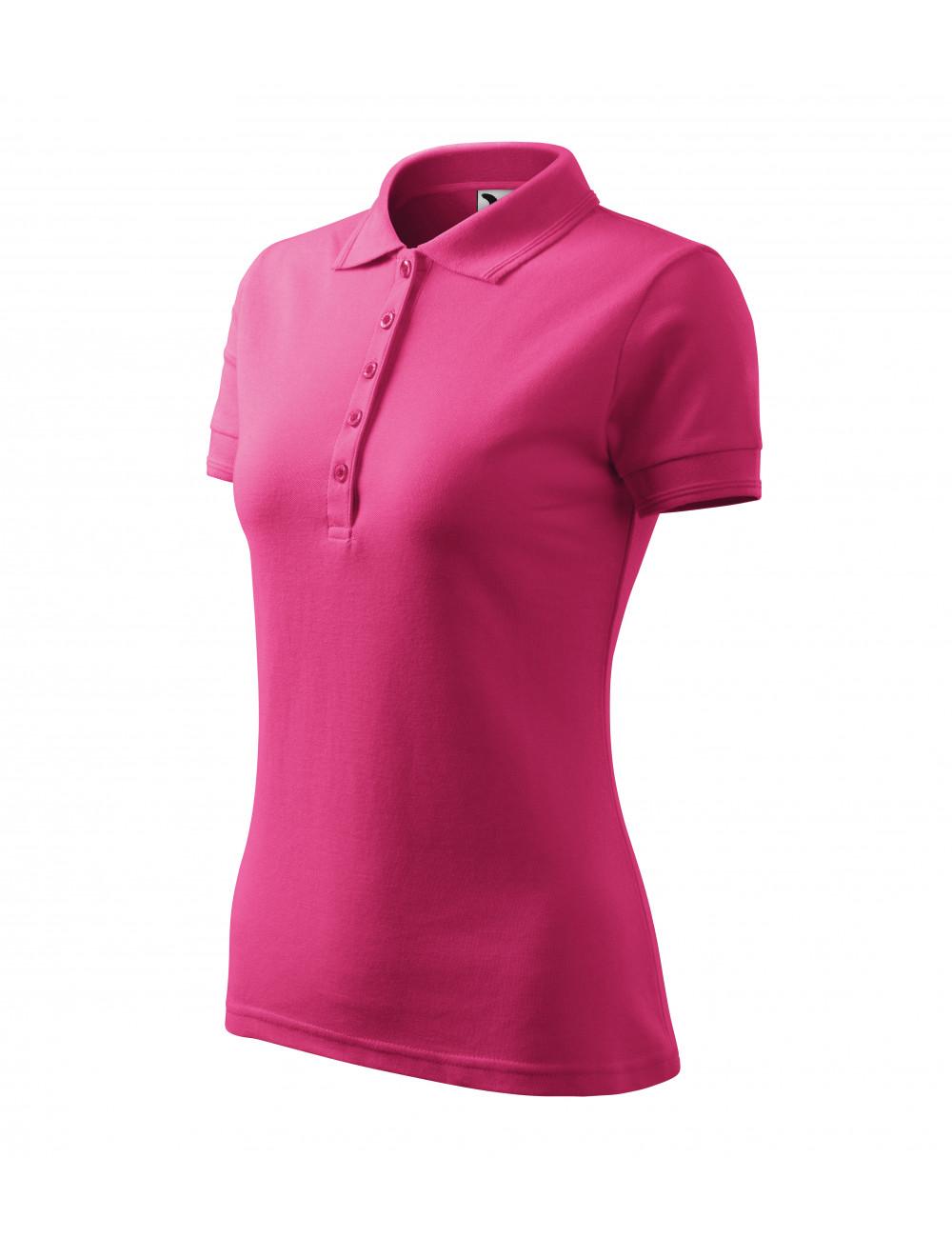 Adler MALFINI Koszulka polo damska Pique Polo 210 czerwień purpurowa
