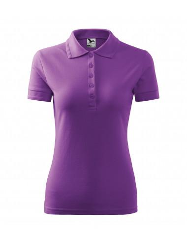 2Adler MALFINI Koszulka polo damska Pique Polo 210 fioletowy