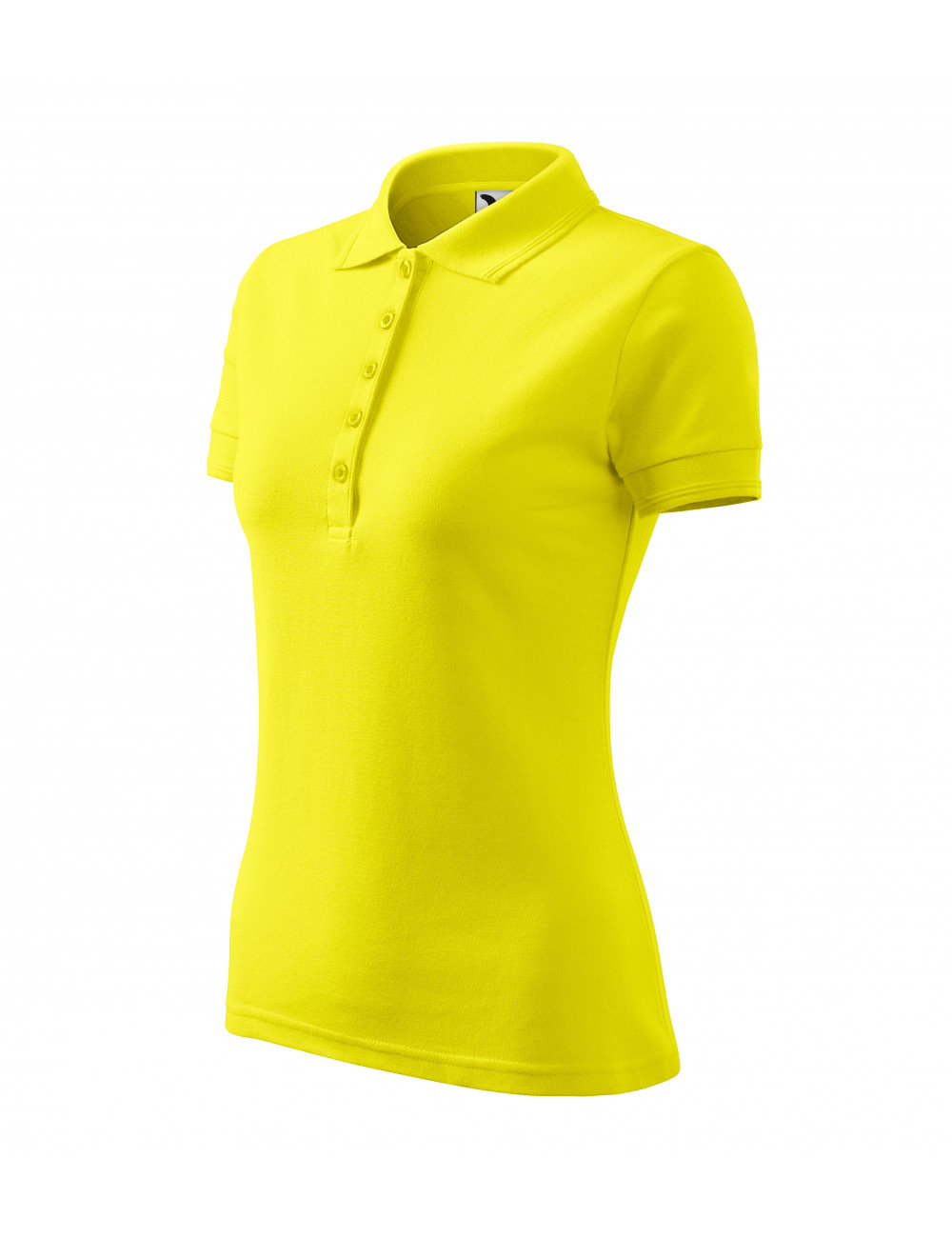 Adler MALFINI Koszulka polo damska Pique Polo 210 cytrynowy