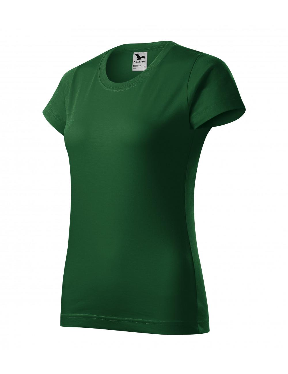 Adler MALFINI Koszulka damska Basic 134 zieleń butelkowa