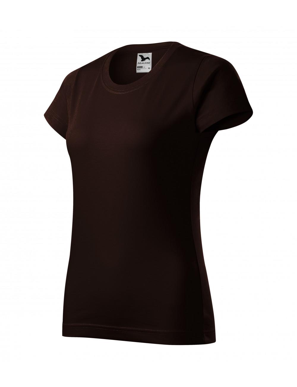 Adler MALFINI Koszulka damska Basic 134 kawowy