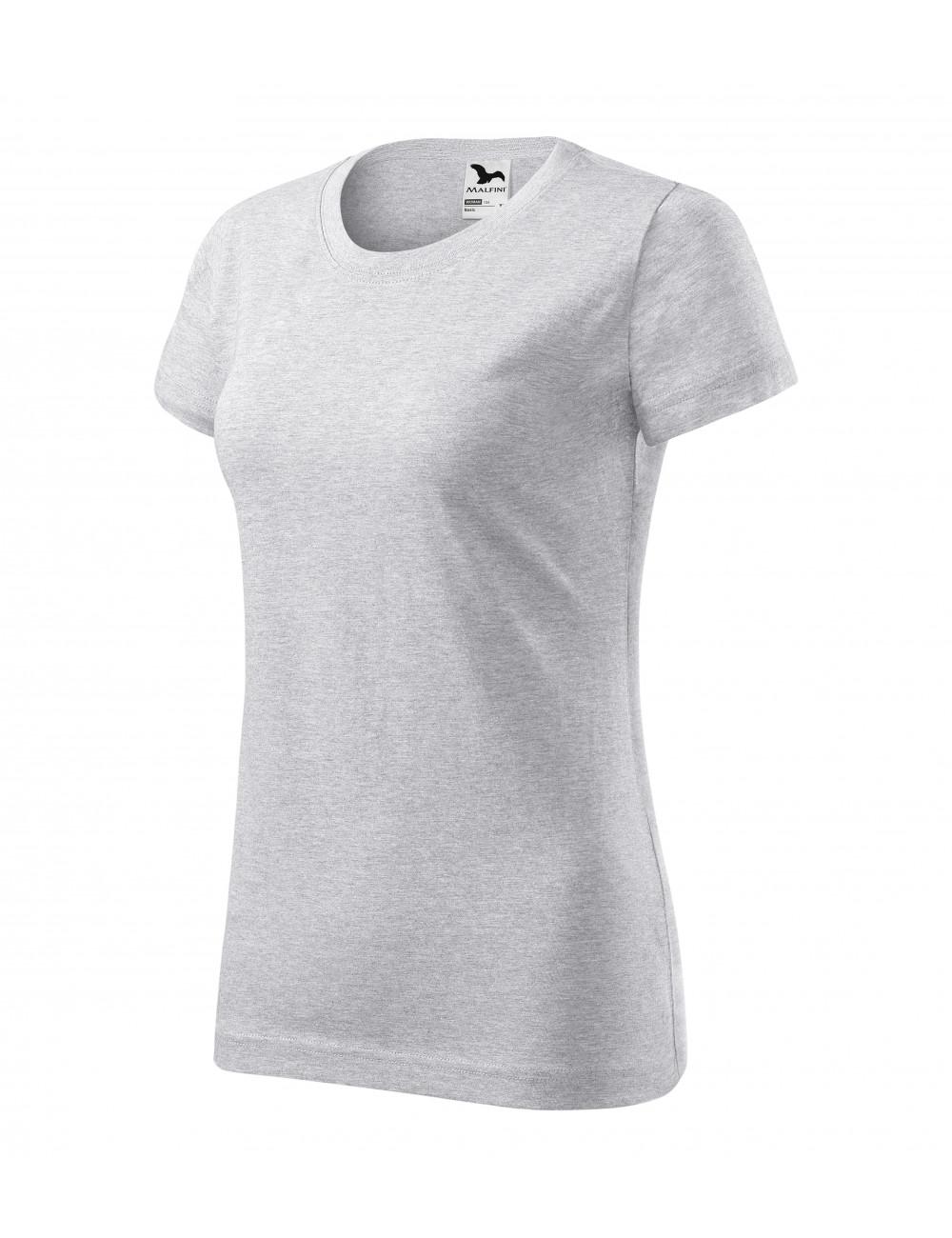 Adler MALFINI Koszulka damska Basic 134 jasnoszary melanż
