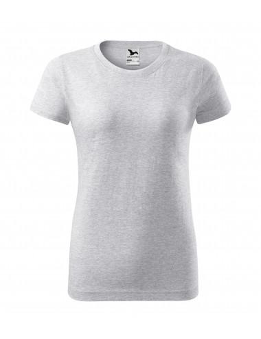 2Adler MALFINI Koszulka damska Basic 134 jasnoszary melanż