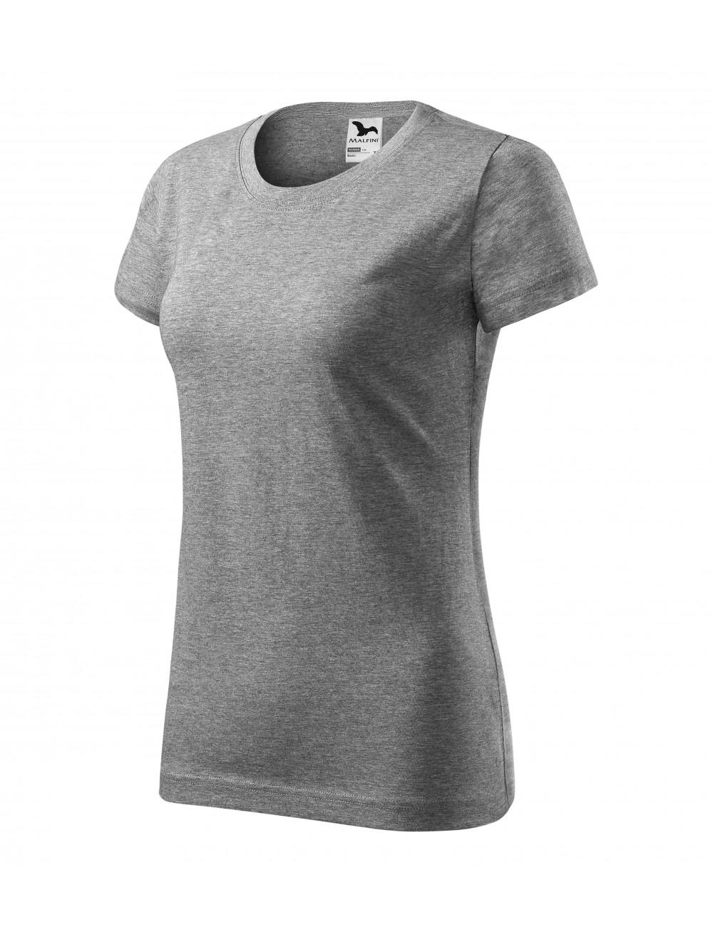 Adler MALFINI Koszulka damska Basic 134 ciemnoszary melanż