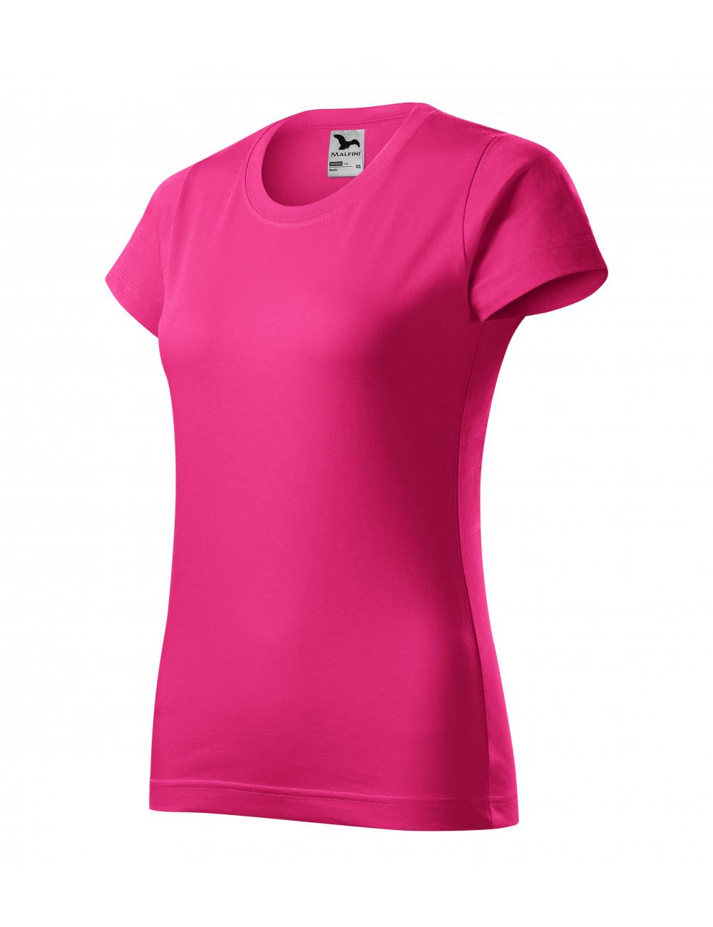 Adler MALFINI Koszulka damska Basic 134 czerwień purpurowa