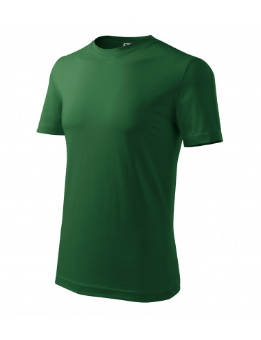 Adler MALFINI Koszulka męska Classic New 132 zieleń butelkowa