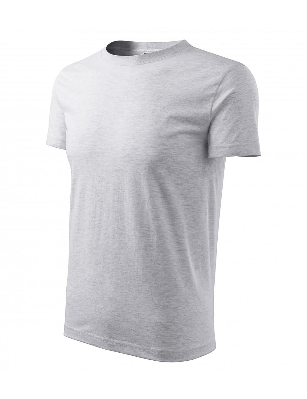 Adler MALFINI Koszulka męska Classic New 132 jasnoszary melanż