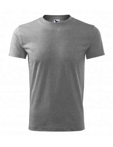 2Adler MALFINI Koszulka męska Classic New 132 ciemnoszary melanż