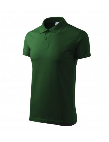 Adler MALFINI Koszulka polo męska Single J. 202 zieleń butelkowa