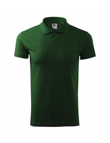2Adler MALFINI Koszulka polo męska Single J. 202 zieleń butelkowa