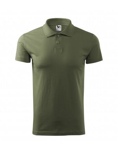 2Adler MALFINI Koszulka polo męska Single J. 202 khaki
