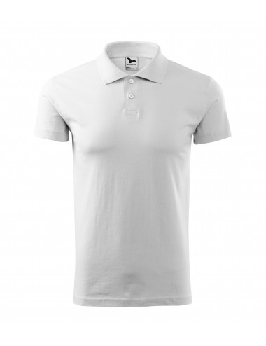 2Adler MALFINI Koszulka polo męska Single J. 202 biały