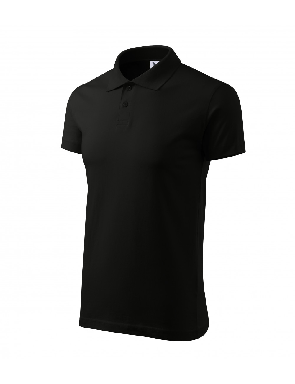 Adler MALFINI Koszulka polo męska Single J. 202 czarny