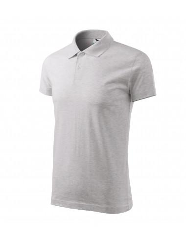 2Adler MALFINI Koszulka polo męska Single J. 202 jasnoszary melanż