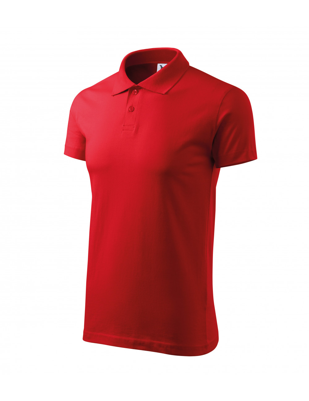 Adler MALFINI Koszulka polo męska Single J. 202 czerwony