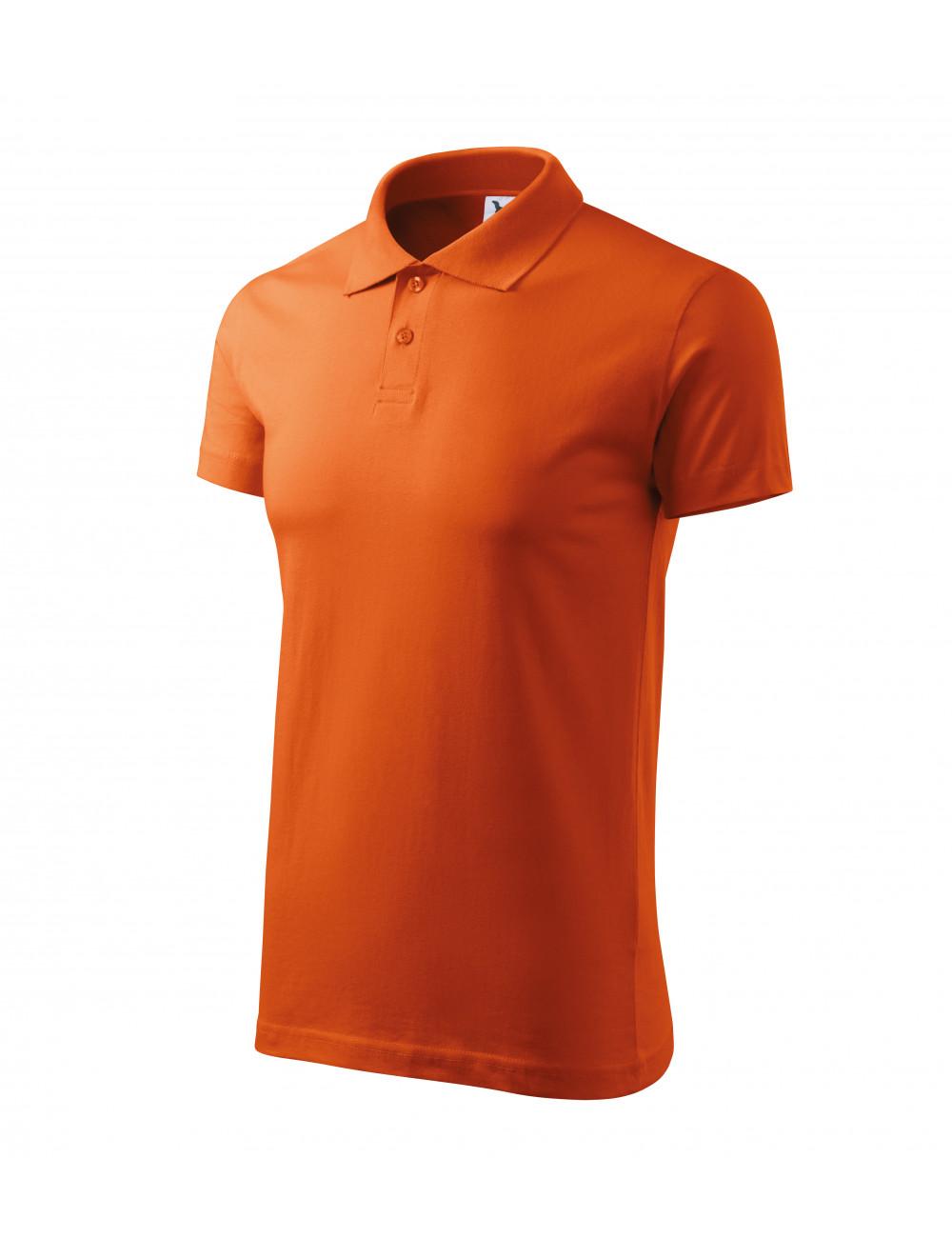 Adler MALFINI Koszulka polo męska Single J. 202 pomarańczowy