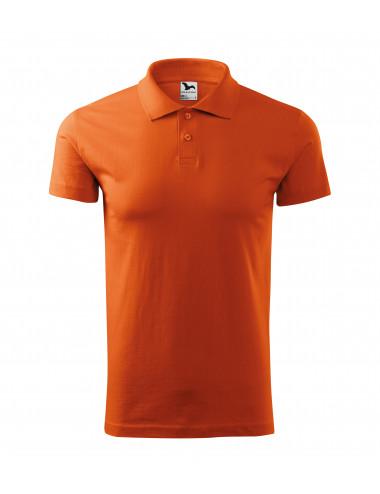 2Adler MALFINI Koszulka polo męska Single J. 202 pomarańczowy