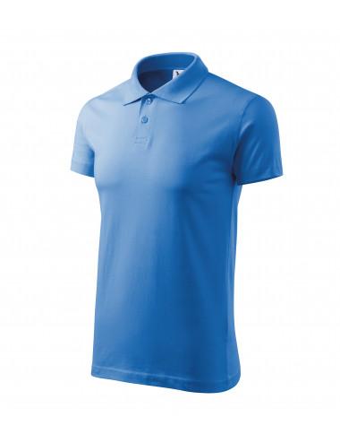 2Adler MALFINI Koszulka polo męska Single J. 202 lazurowy