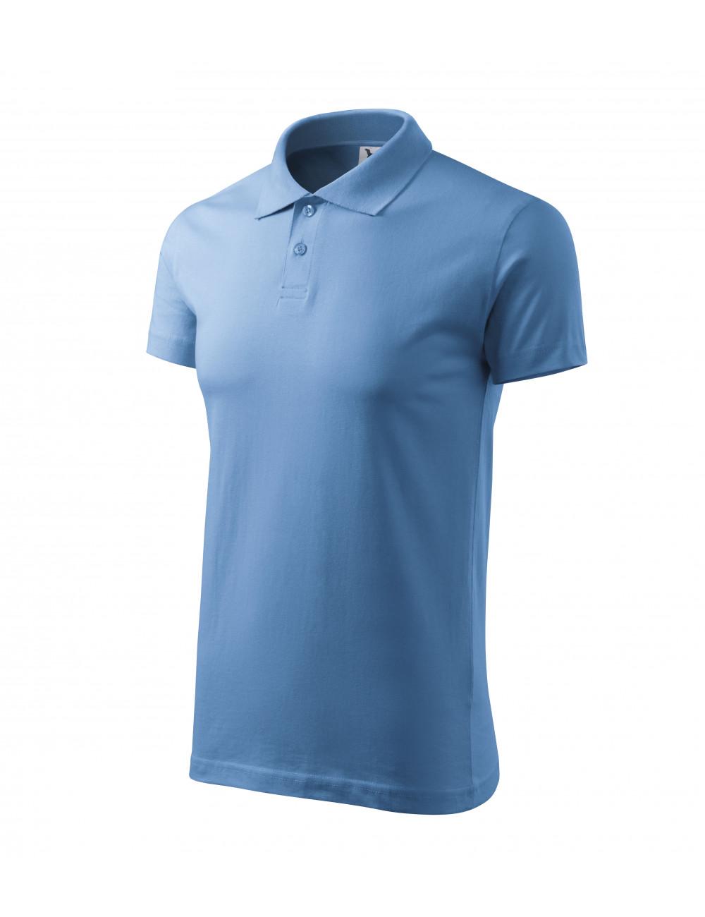 Adler MALFINI Koszulka polo męska Single J. 202 błękitny