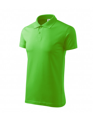 2Adler MALFINI Koszulka polo męska Single J. 202 green apple