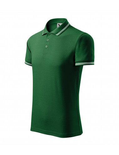 Adler MALFINI Koszulka polo męska Urban 219 zieleń butelkowa