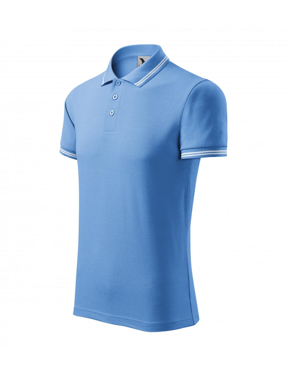 Adler MALFINI Koszulka polo męska Urban 219 błękitny