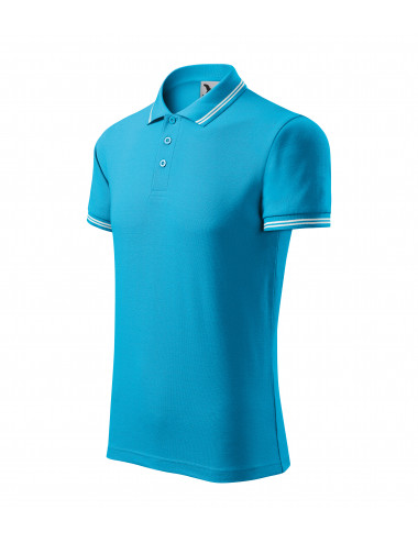 2Adler MALFINI Koszulka polo męska Urban 219 turkus