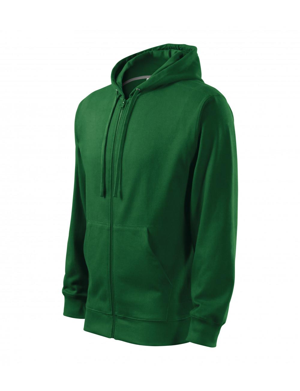 Adler MALFINI Bluza męska Trendy Zipper 410 zieleń butelkowa